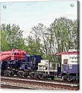 Heavy Lift 1m Pound Capacity Schnabel Train Set By Emmert International Acrylic Print