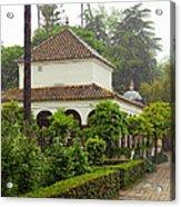 Heavy Rain In Alcazar Gardens Acrylic Print