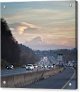 Heavy Traffic Stalls Interstate 5 Acrylic Print