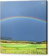 Heber Valley Rainbow Acrylic Print