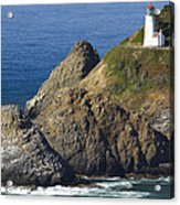 Heceta Head Lighthouse 2 F Acrylic Print