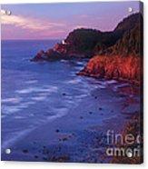 Heceta Head Lighthouse At Sunset Oregon Coast Acrylic Print