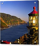 Heceta Head Moonrise Acrylic Print