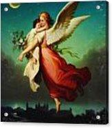 Heiliger Schutzengel  Guardian Angel 10 Pastel Acrylic Print