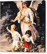 Heiliger Schutzengel  Guardian Angel 6 Pastel Acrylic Print