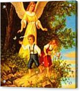 Heiliger Schutzengel Guardian Angel 8 Oil Acrylic Print