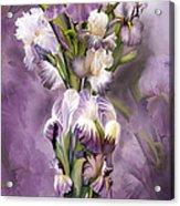 Heirloom Iris In Iris Vase Acrylic Print