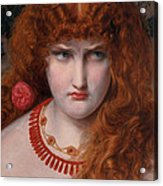 Helen Of Troy Acrylic Print by Anthony Frederick Augustus Sandys