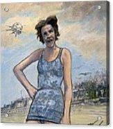 Helen Of Troy Vs Sputnik Acrylic Print