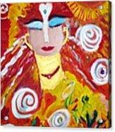 Helianna - Angel Of Divine Serenity Acrylic Print