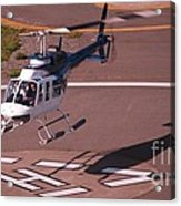 Helicopter Landing In Victoria, British Columbia Acrylic Print