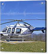 Helicopter On A Mountain Acrylic Print