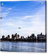Helicopter Tour Of Nyc Acrylic Print