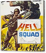 Hell Squad, Poster Art, 1958 Acrylic Print