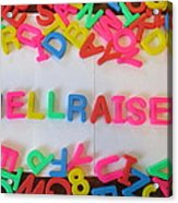 Hellraiser - Magnetic Letters Acrylic Print