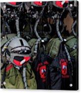 Helmets And Flight Gear Of Hellenic Air Acrylic Print