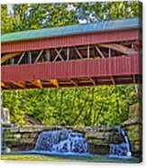 Helmick Mill Or Island Run Covered Bridge  Acrylic Print