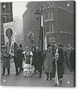 �help Hungary� Parade In Streets Of London Acrylic Print