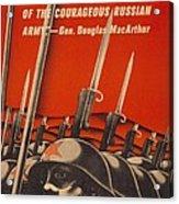 Help Russian War Relief American World Acrylic Print