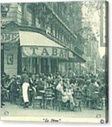 Hemingway's Paris 1925 Acrylic Print