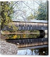 Hemlock Covered Bridge Acrylic Print