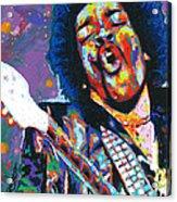 Hendrix Acrylic Print by Maria Arango
