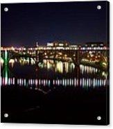 Henley Street Bridge Green And Purple Acrylic Print