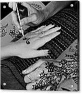 Henna Artist At Play Acrylic Print