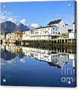 Henningsvaer Harbour Acrylic Print