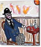 Henri Always Enjoys His Evenings. Acrylic Print