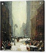 Henri's Snow In New York Acrylic Print
