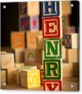 Henry - Alphabet Blocks Acrylic Print
