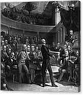 Henry Clay Speaking In The Senate Acrylic Print