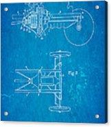 Henry Ford Transmission Mechanism Patent Art 1911 Blueprint Acrylic Print