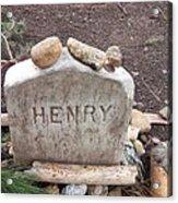 Henry Thoreau Acrylic Print