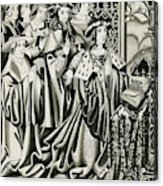 Henry Vi And His Court At  Prayer Acrylic Print