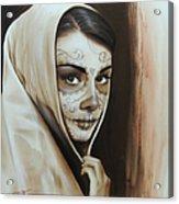 Hepburn De Los Muertos Acrylic Print