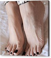 Her Amazing Feet Acrylic Print by Tos