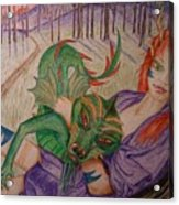 Her Dragon Acrylic Print