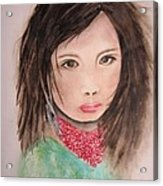 Her Expression Says It All Acrylic Print