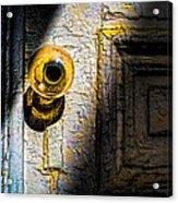 Her Glass Doorknob Acrylic Print