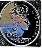 Her Majesty Elisabeth The Second  Coin Acrylic Print