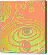 Her Navel Peach Vibrates Pulsates  Acrylic Print by Feile Case