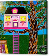 Her Tree House Acrylic Print