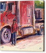 Her Truck Acrylic Print