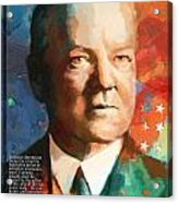 Herbert Hoover Acrylic Print by Corporate Art Task Force