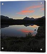 Herbert Lake Sunset Banff National Park Acrylic Print