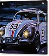 Herbie The Love Bug Painting Acrylic Print