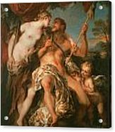 Hercules And Omphale Acrylic Print by Francois Le Moyne