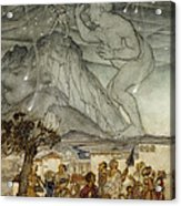 Hercules Supporting The Sky Instead Of Atlas Acrylic Print by Arthur Rackham